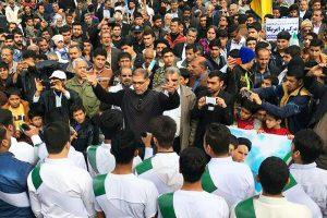 عکس مصاحبه با افشین کردستانی فعال فرهنگی در عرصه سرود